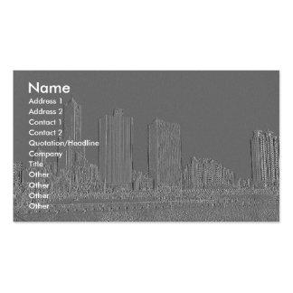 Ciudad grabada en relieve del puerto tarjetas de visita