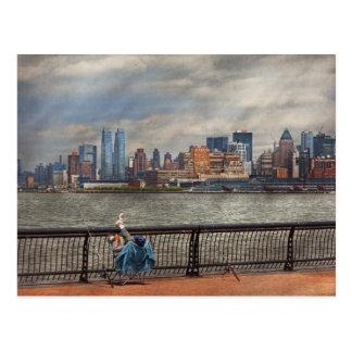 Ciudad - Hoboken, NJ - pesca - la buena vida Postal