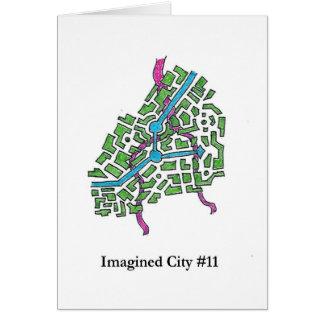 Ciudad imaginada #11 tarjeta de felicitación