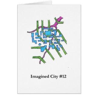 Ciudad imaginada #12 tarjeta de felicitación
