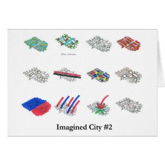 Ciudad imaginada #2 tarjeta de felicitación
