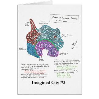 Ciudad imaginada #3 tarjeta de felicitación