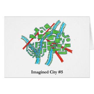 Ciudad imaginada #5 tarjeta de felicitación