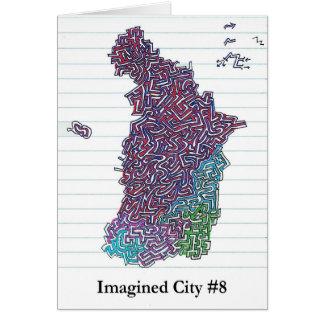 Ciudad imaginada #8 tarjeta de felicitación