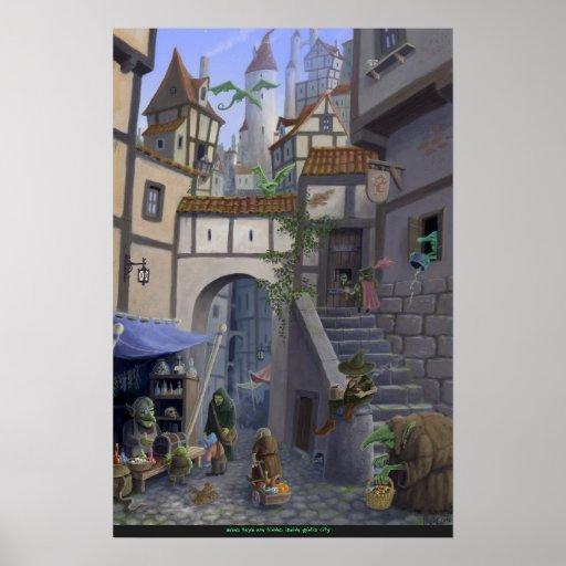 ciudad interior del goblin posters