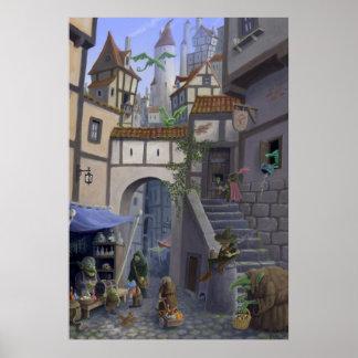 ciudad interior del goblin póster