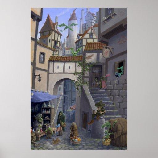 ciudad interior del goblin poster
