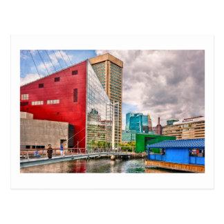 Ciudad - MD de Baltimore - lugar del puerto - Postal