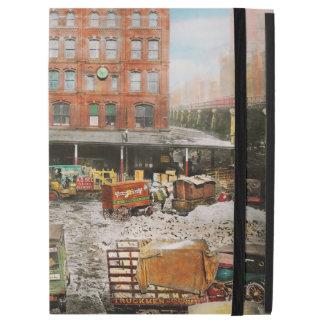 """Ciudad - Nueva York NY - pegada en una rodera 1920 Funda Para iPad Pro 12.9"""""""