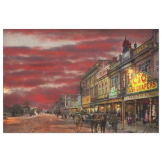 Ciudad - NZ - el distrito 1908 de las compras Papel De Seda