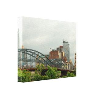 Ciudad - PA de Pittsburg - la ciudad magnífica de Impresión En Lienzo