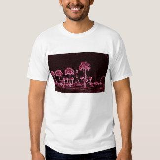 Ciudad púrpura camisetas