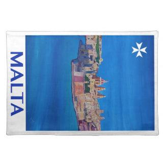 Ciudad RETRA de Malta La Valeta del POSTER de Salvamanteles