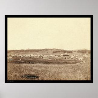 Ciudad SD 1891 de Custer Póster