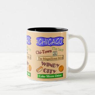 Ciudad ventosa de Chicago - taza del recuerdo
