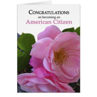 Ciudadanía de los E.E.U.U. de la enhorabuena que Tarjeta De Felicitación
