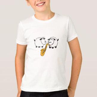 CK ovejas que juegan la camisa del saxofón