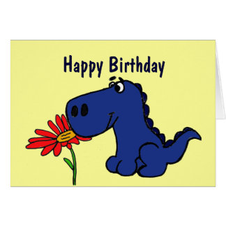 CK tarjeta de cumpleaños linda del dinosaurio