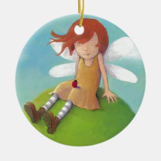 Claire Keay - hada y mariquita Ornamentos De Navidad