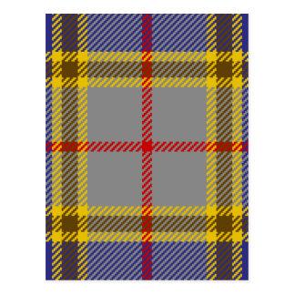 Clan Balfour del tartán Postal