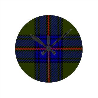 Clan Shaw del tartán Reloj Redondo Mediano