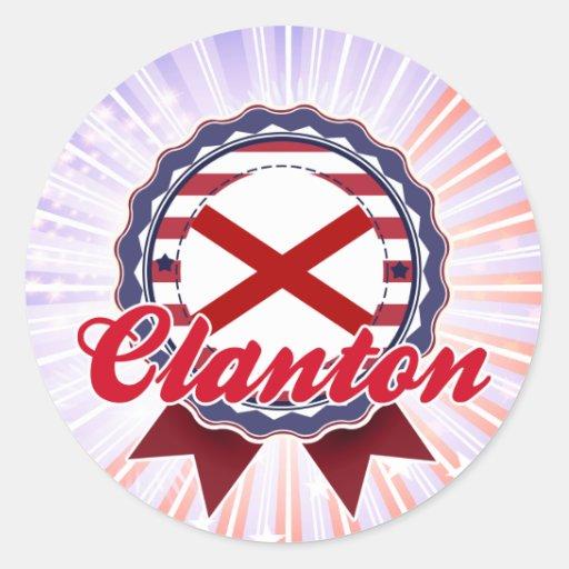 Clanton, AL Pegatina