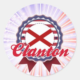 Clanton, AL Pegatina Redonda