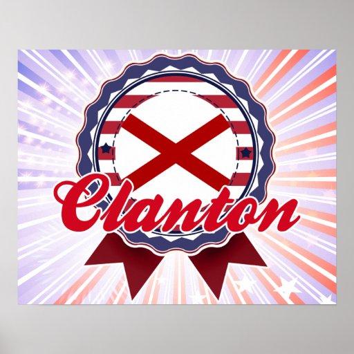 Clanton, AL Poster