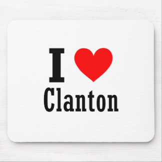 Clanton, diseño de la ciudad de Alabama Alfombrilla De Ratón