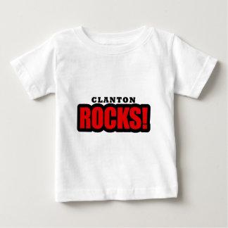 Clanton, diseño de la ciudad de Alabama Camiseta Para Bebé