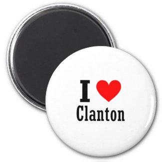 Clanton, diseño de la ciudad de Alabama Imán Redondo 5 Cm