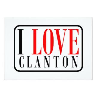 Clanton, diseño de la ciudad de Alabama Invitación 12,7 X 17,8 Cm