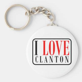 Clanton, diseño de la ciudad de Alabama Llavero Redondo Tipo Chapa