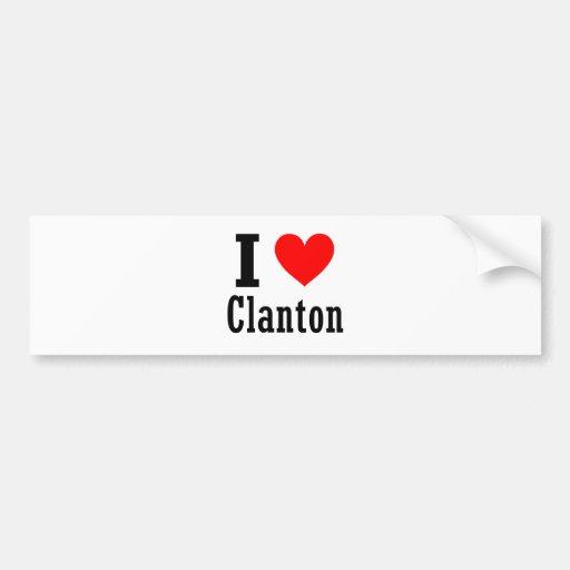 Clanton, diseño de la ciudad de Alabama Etiqueta De Parachoque