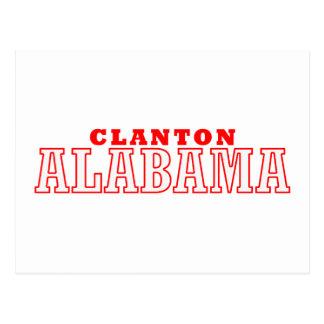 Clanton, diseño de la ciudad de Alabama Postal