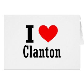 Clanton, diseño de la ciudad de Alabama Tarjeta De Felicitación