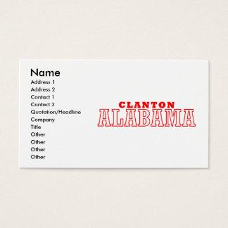 Clanton, diseño de la ciudad de Alabama Tarjeta De Negocios