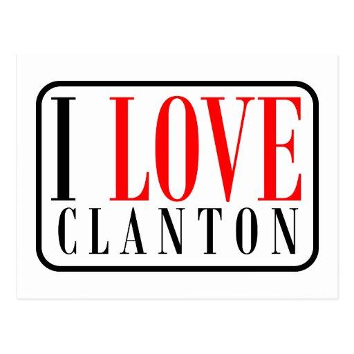 Clanton, diseño de la ciudad de Alabama Postales