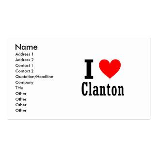 Clanton, diseño de la ciudad de Alabama Tarjeta De Visita