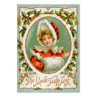 Clapsaddle: Chica encantador del invierno Tarjetas De Visita