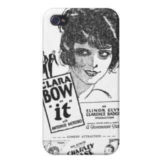 """Clara Bow """"él"""" caja 1927 de iPod del anuncio de la iPhone 4 Cárcasa"""