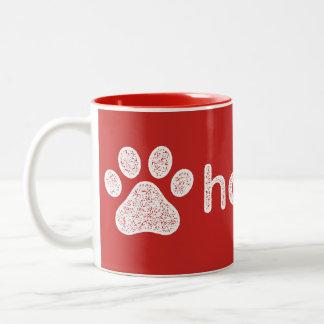 Claramente charla del perro de Hooman Taza De Café De Dos Colores