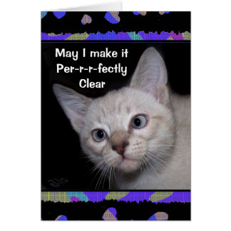 Clarence la tarjeta bizca del de agradecimiento de