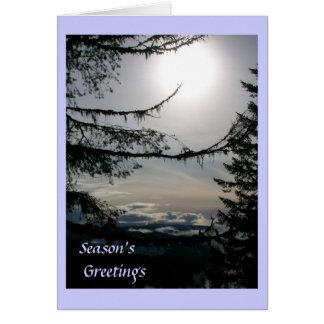 Claridad de las vacaciones de invierno tarjeta de felicitación