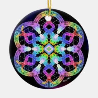 Claridad/profundamente paz adorno navideño redondo de cerámica