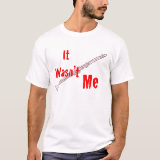 "Clarinet ""no era yo"" camiseta del Clarinet"