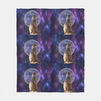 Claro de luna de Meerkat, manta media del paño