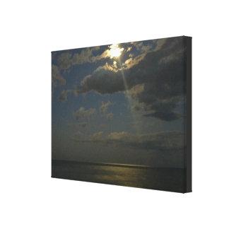 Claro de luna en la orilla lienzo