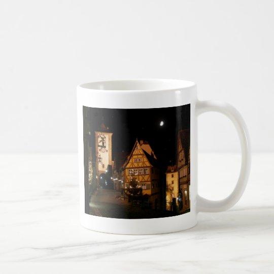 Claro de luna en Rothenburg Taza De Café