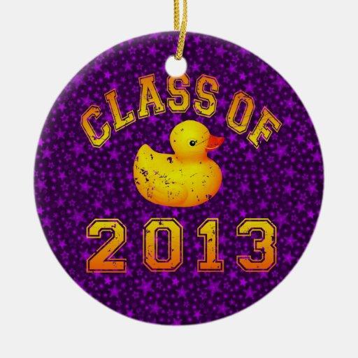 Clase 2013 del caucho Duckie Adorno De Navidad